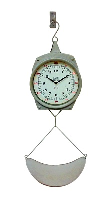 Metal Hanging Weight Scale Wall Clock